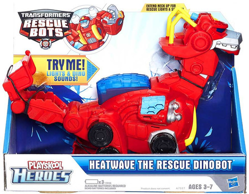"Transformers Playskool Heroes Rescue Bots Heatwave the Rescue Dinobot 10"" Action Figure"