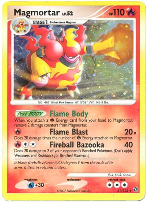 Pokemon Diamond & Pearl Secret Wonders Rare Holo Magmortar #31 [Theme Deck Exclusive]