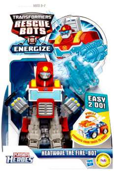 Transformers Playskool Heroes Rescue Bots Heatwave The Fire-Bot Action Figure [Energize, Damaged Package, Mint Figures]