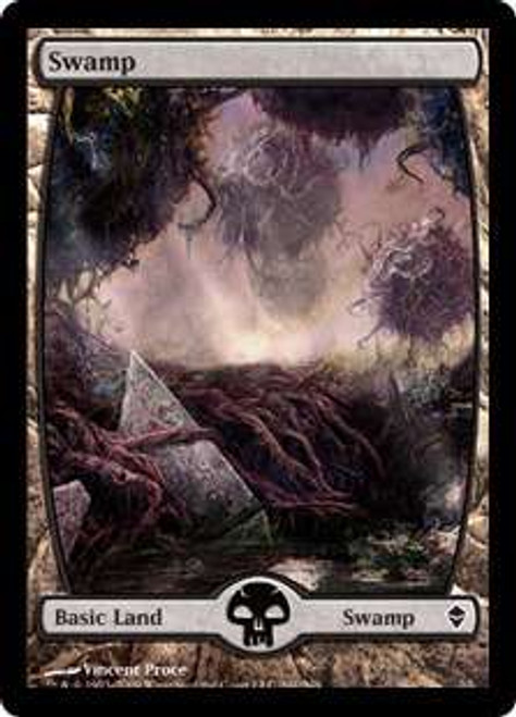 MtG Zendikar Basic Land Swamp #241