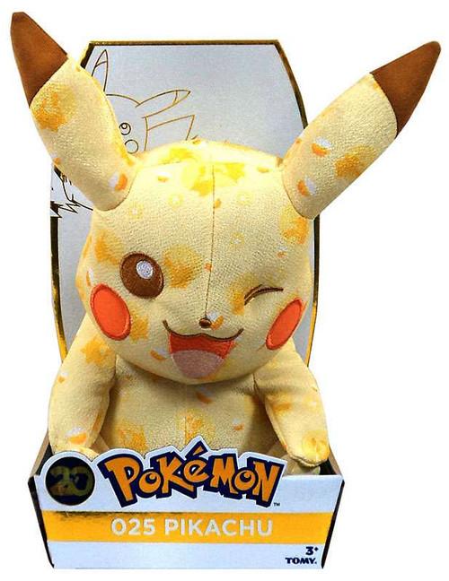 Pokemon 20th Anniversary Pikachu Exclusive 8-Inch Plush #025 [Winking]