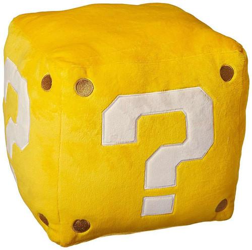 Super Mario Bros Coin Box 10-Inch Plush Pillow