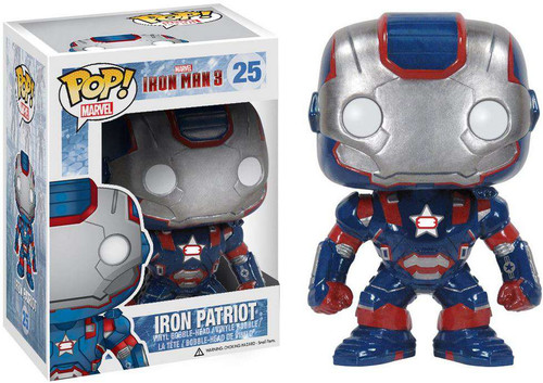 Funko Iron Man 3 POP! Marvel Iron Patriot Vinyl Bobble Head #25