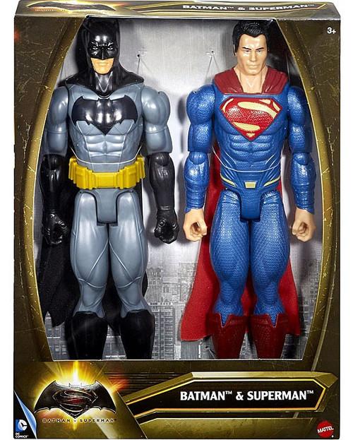 DC Batman v Superman: Dawn of Justice Batman & Superman Deluxe Action Figure 2-Pack