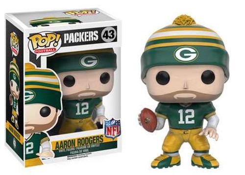 Funko NFL Green Bay Packers POP! Sports Football Aaron Rodgers Vinyl Figure #43