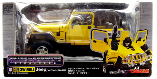 Transformers Japanese Binaltech Swindle Tan Jeep Action Figure BT-09