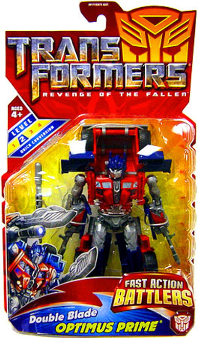 Transformers Revenge of the Fallen Double Blade Optimus Prime Action Figure