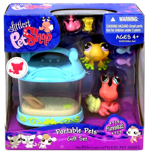 Littlest Pet Shop Fanciest Pets Portable Frog & Hermit Crab Gift Set