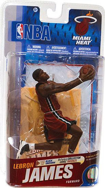 McFarlane Toys NBA Miami Heat Sports Picks Series 19 Lebron James Action Figure [Red Jersey]