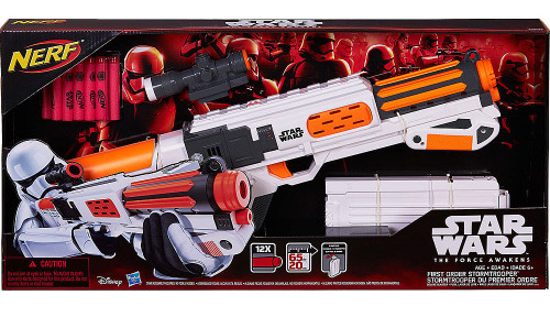 Star Wars The Force Awakens NERF First Order Stormtrooper Deluxe Blaster Roleplay Toy