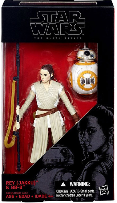Star Wars The Force Awakens Black Series Rey (Jakku) & BB-8 Action Figure [Version 1 - No Lightsaber]