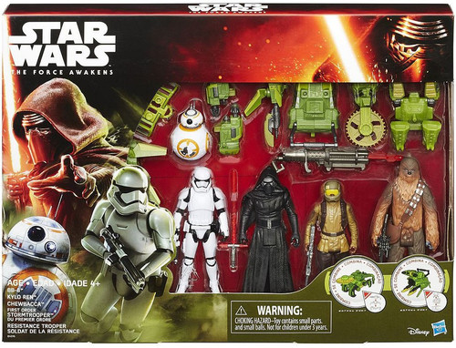 Star Wars The Force Awakens Forest Mission BB-8, Kylo Ren, Chewbacca, First Order Stormtrooper & Resistance Trooper Exclusive Action Figure 5-Pack