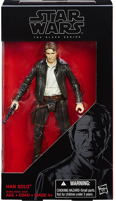 Star Wars The Force Awakens Black Series Han Solo Action Figure