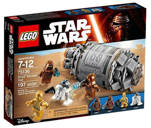 LEGO Star Wars The Force Awakens Droid Escape Pod Set #75136