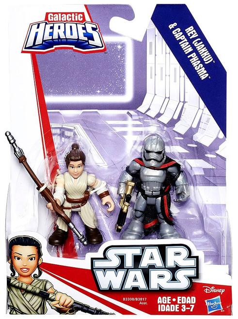 Star Wars Galactic Heroes Rey (Jakku) & Captain Phasma Mini Figure 2-Pack
