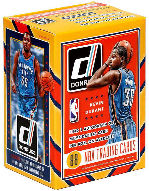 NBA Panini 2015-16 Donruss Basketball Trading Card BLASTER Box [10 Packs, 1 Autograph OR Memorabilia CArd!]