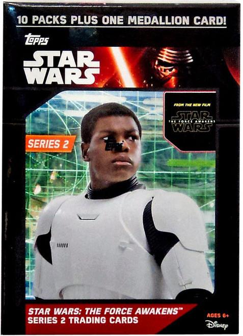 Star Wars Topps The Force Awakens Series 2 Trading Card BLASTER Box [10 Packs + 1 Medallion Card!]
