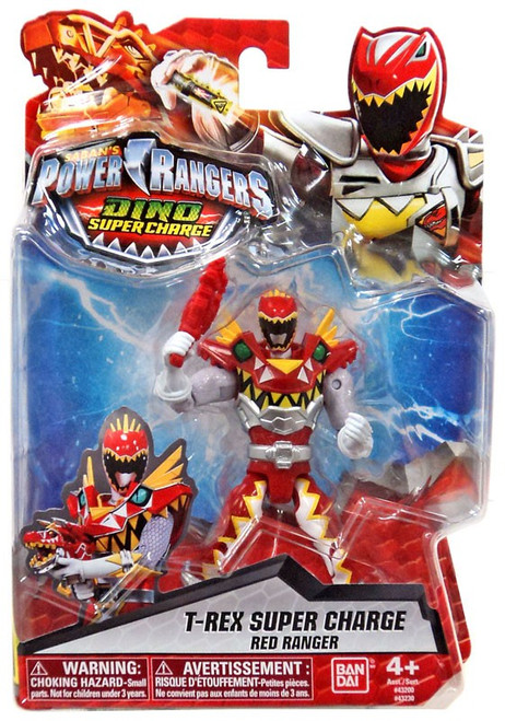 Power Rangers Dino Super Charge T-Rex Super Charge Red Ranger Action Figure
