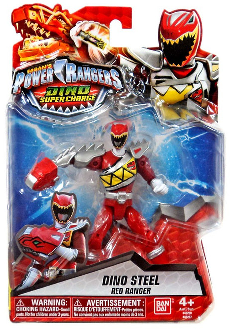 Power Rangers Dino Super Charge Dino Steel Red Ranger Action Figure