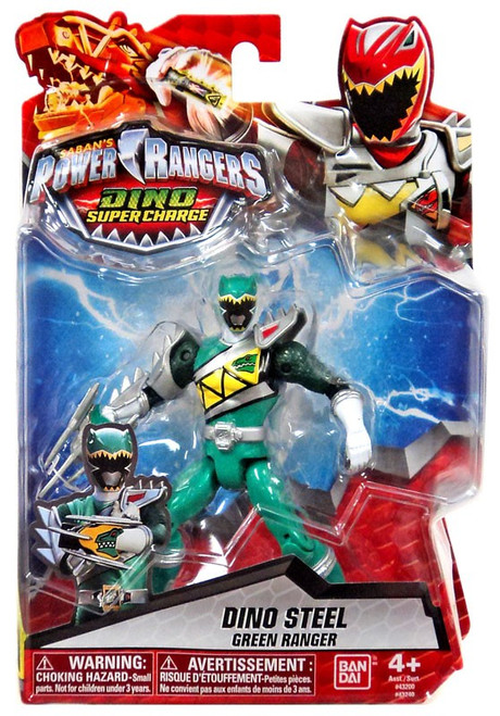 Power Rangers Dino Super Charge Dino Steel Green Ranger Action Figure