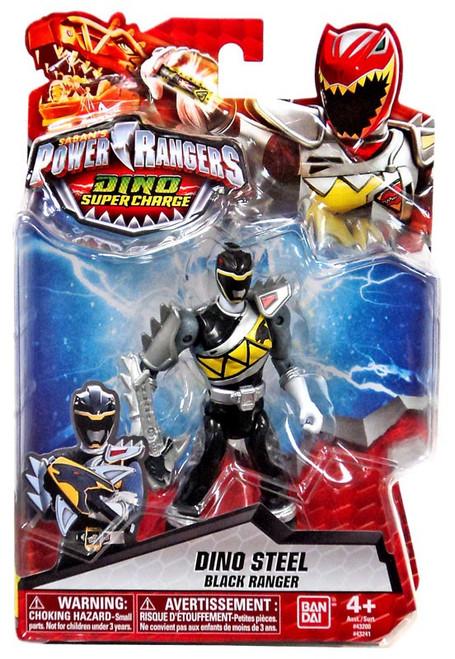 Power Rangers Dino Super Charge Dino Steel Black Ranger Action Figure