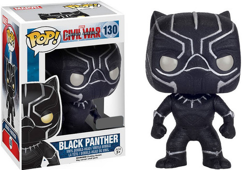 Funko Civil War POP! Marvel Black Panther Exclusive Vinyl Bobble Head #130 [Glitter]