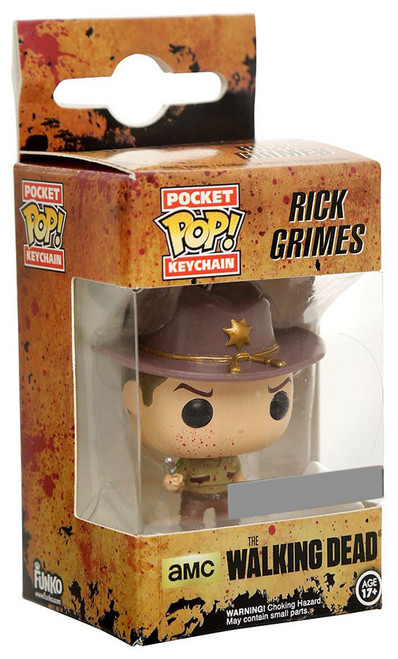 Funko The Walking Dead Pocket POP! TV Rick Grimes Exclusive Keychain [Bloody]
