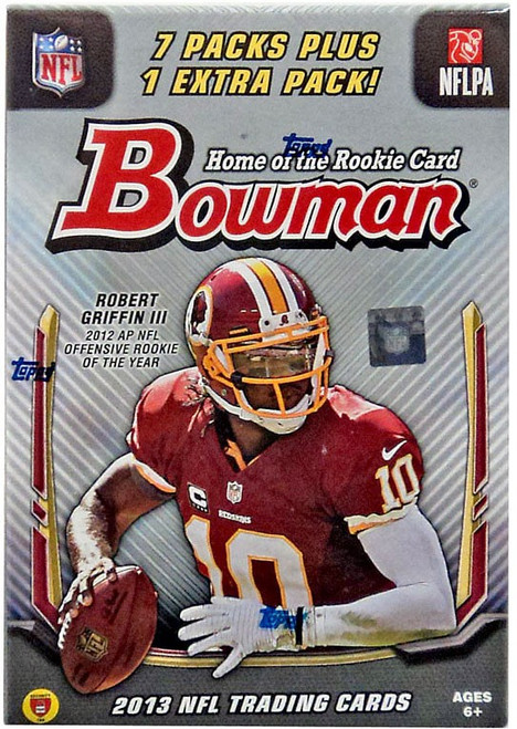 NFL Topps 2013 Bowman Football Trading Card BLASTER Box [7 Packs + 1 Extra Pack]