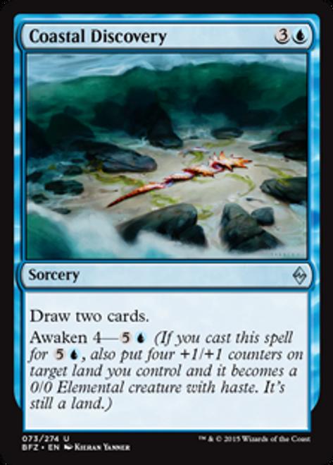 MtG Battle for Zendikar Uncommon Foil Coastal Discovery #73