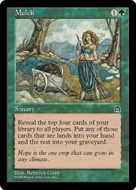 MtG Stronghold Common Mulch [Signed]