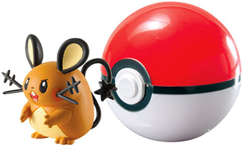 Pokemon Clip n Carry Pokeball Dedenne with Poke Ball Figure Set
