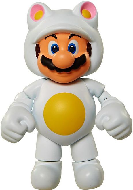 World of Nintendo Super Mario Series 6 White Tanooki Mario Action Figure