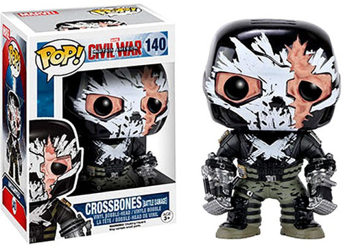 Funko Civil War POP! Marvel Crossbones (Battle Damage) Exclusive Vinyl Bobble Head #134