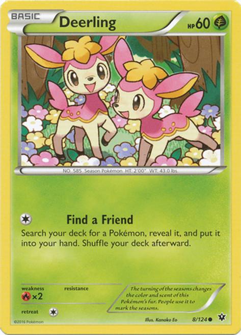 Pokemon X & Y Fates Collide Common Deerling #8