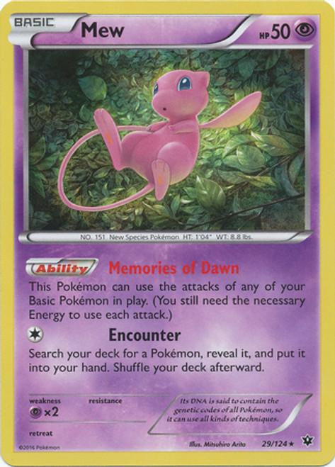 Pokemon X & Y Fates Collide Rare Holo Mew #29
