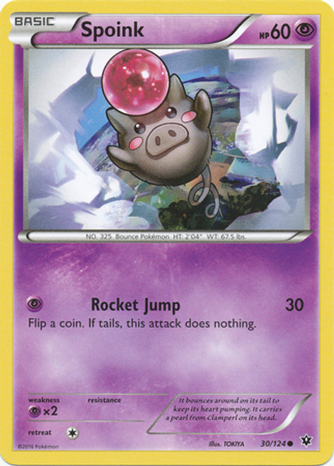 Pokemon X & Y Fates Collide Common Spoink #30