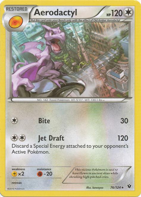 Pokemon X & Y Fates Collide Rare Aerodactyl #76