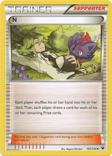 Pokemon X & Y Fates Collide Uncommon N #105