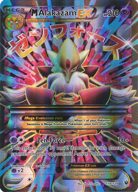 Pokemon X & Y Fates Collide Ultra Rare M Alakazam EX #118