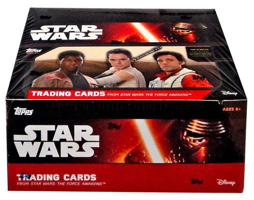Star Wars Series 1 The Force Awakens Trading Card RETAIL Box [24 Packs]