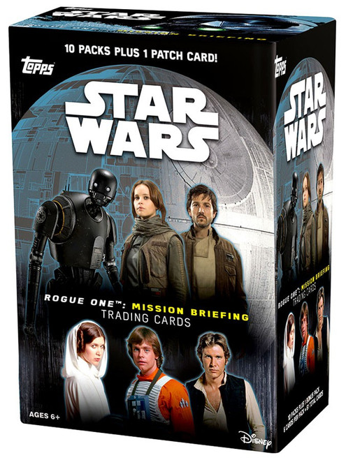 Star Wars Rogue One Mission Briefing Trading Card BLASTER Box [10 Packs & 1 Patch]