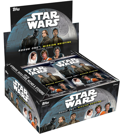 Star Wars Rogue One Mission Briefing Trading Card RETAIL Box [24 Packs]