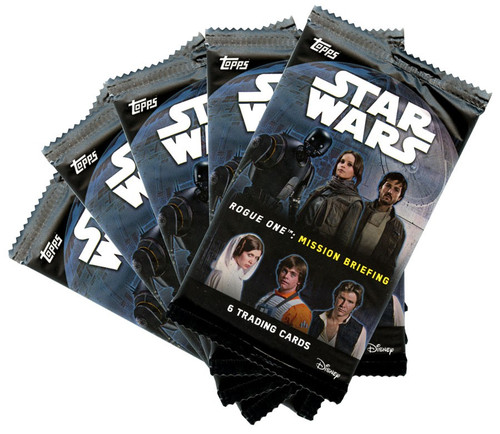 Star Wars Rogue One Mission Briefing LOT of 5 Trading Card RETAIL Packs