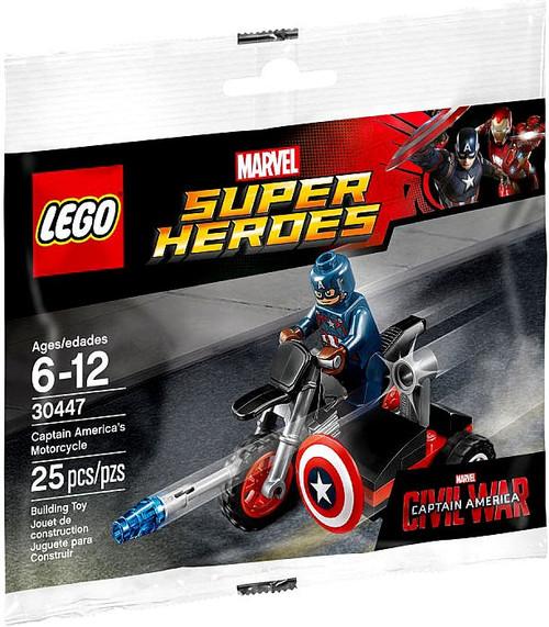 LEGO Marvel Captain America Civil War Captain America's Motorcycle Mini Set #30447 [Bagged]