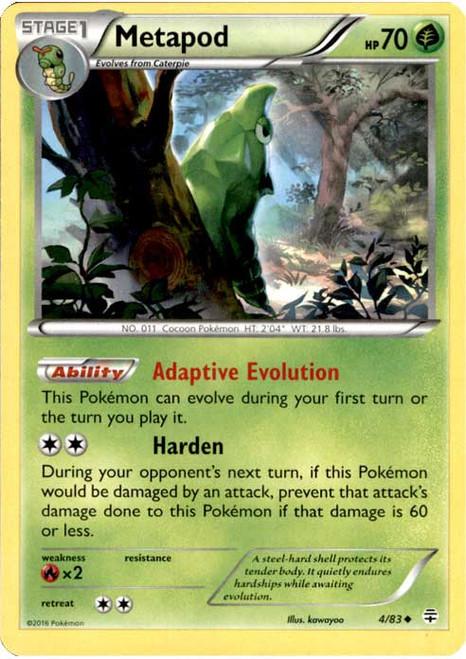 Pokemon X & Y Generations Uncommon Metapod #4