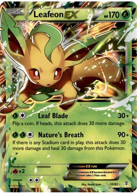Pokemon X & Y Generations Ultra Rare Leafeon EX #10