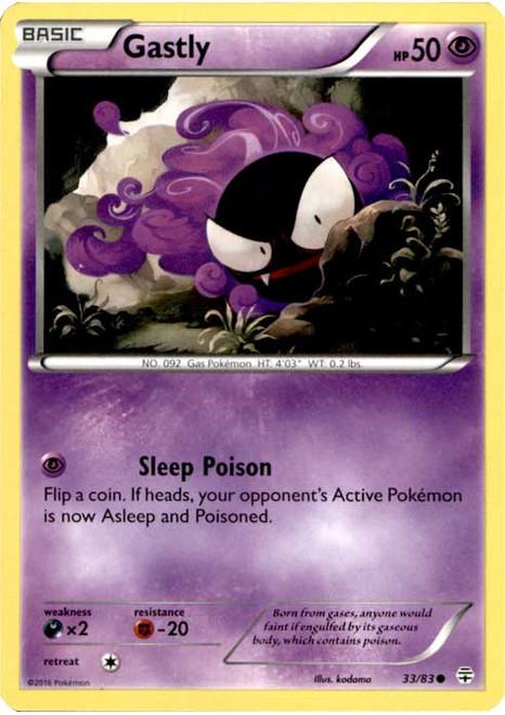Pokemon X & Y Generations Common Gastly #33