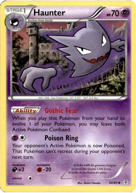 Pokemon X & Y Generations Uncommon Haunter #34