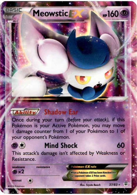 Pokemon X & Y Generations Ultra Rare Meowstic EX #37