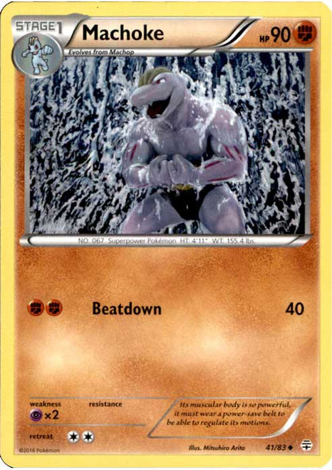 Pokemon X & Y Generations Uncommon Machoke #41